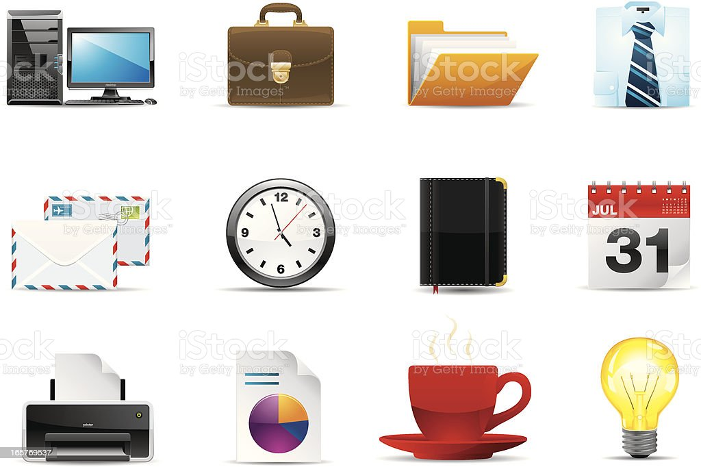 Office icons | Classic series royalty-free office icons classic series stock vector art & more images of address book
