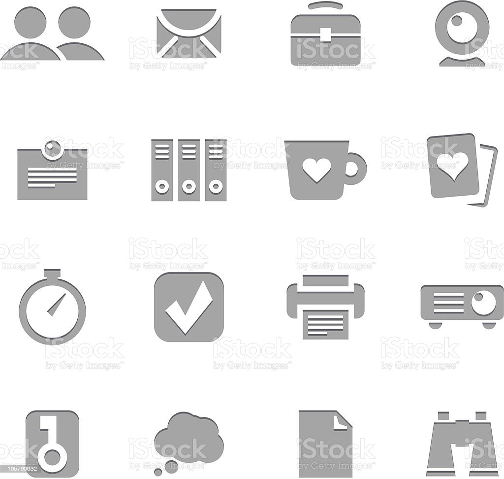 Office Icons | Letterpress Series royalty-free office icons letterpress series stock vector art & more images of binoculars
