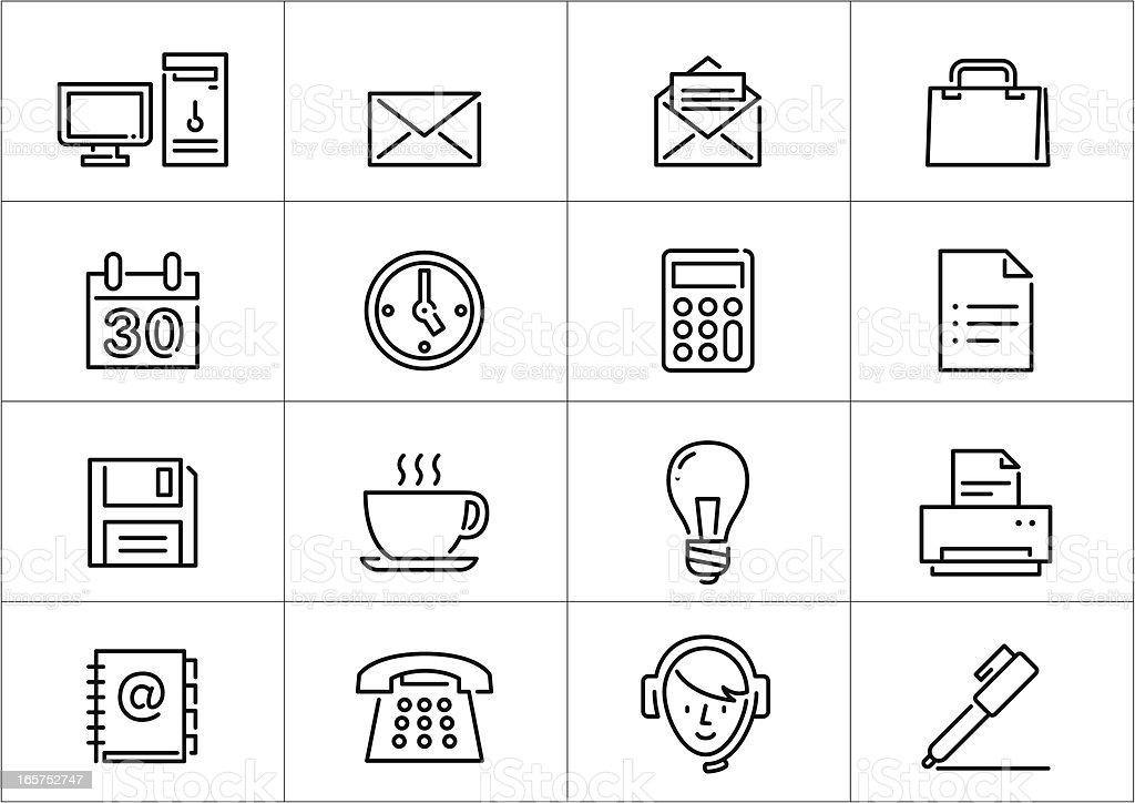 Office icons | Linea series royalty-free stock vector art
