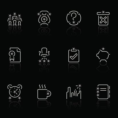 office icons - negro estrella