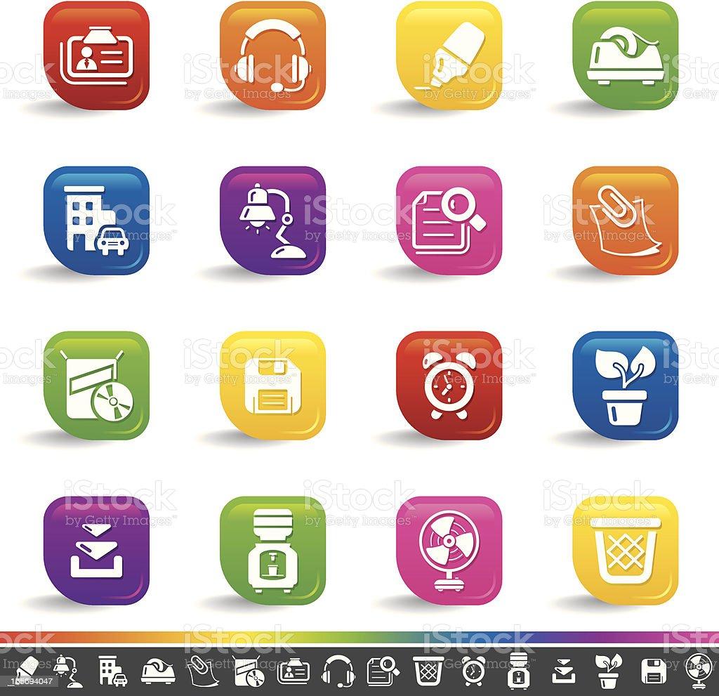 Office icons | Rainbow Series royalty-free stock vector art