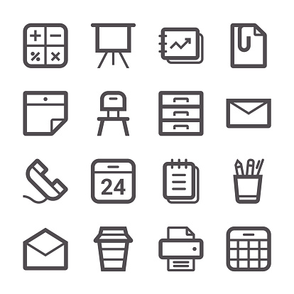 Office Icons set 1 | Stroke Series