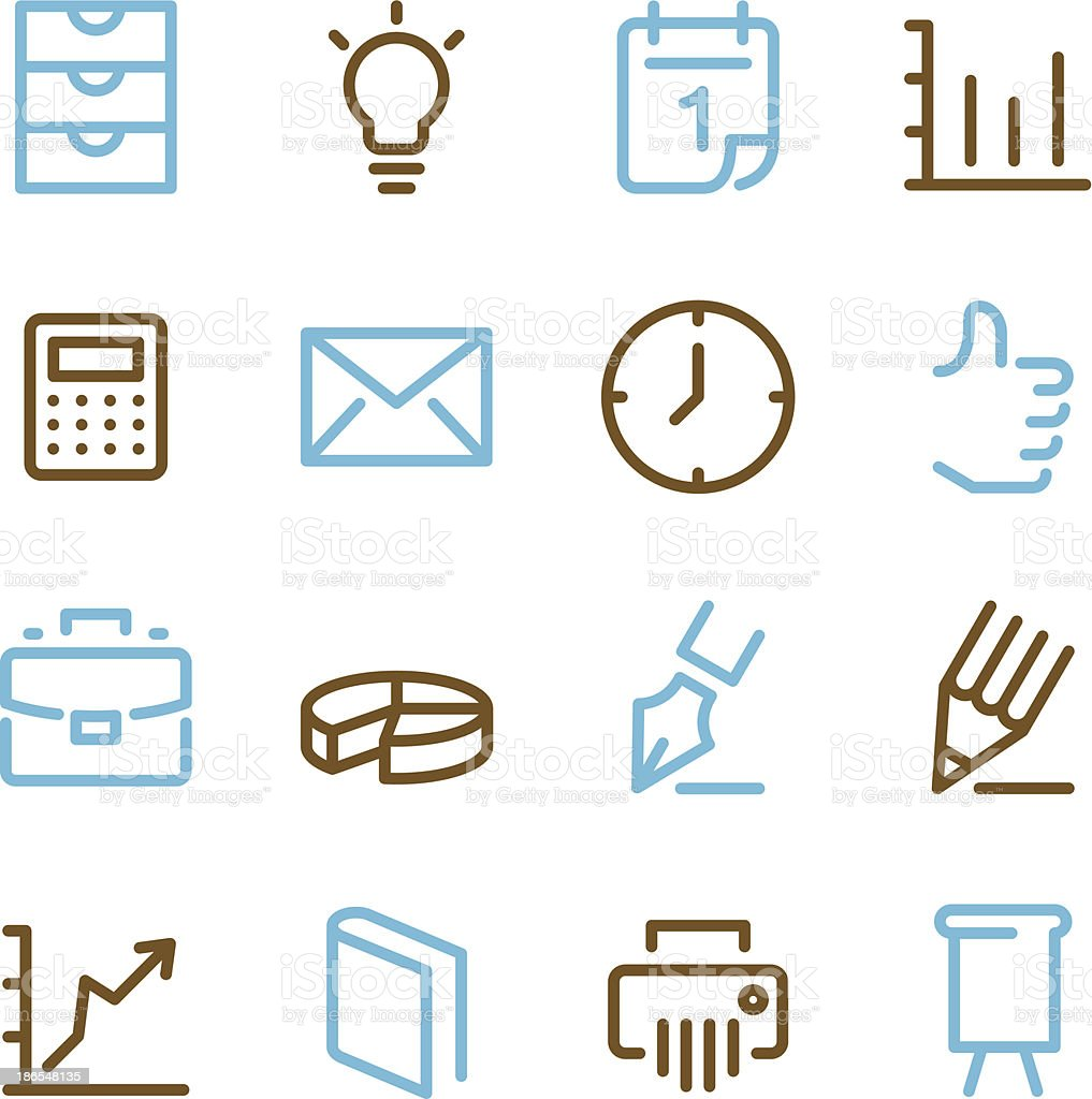 Office Icons | Set - Line Color Series royalty-free stock vector art