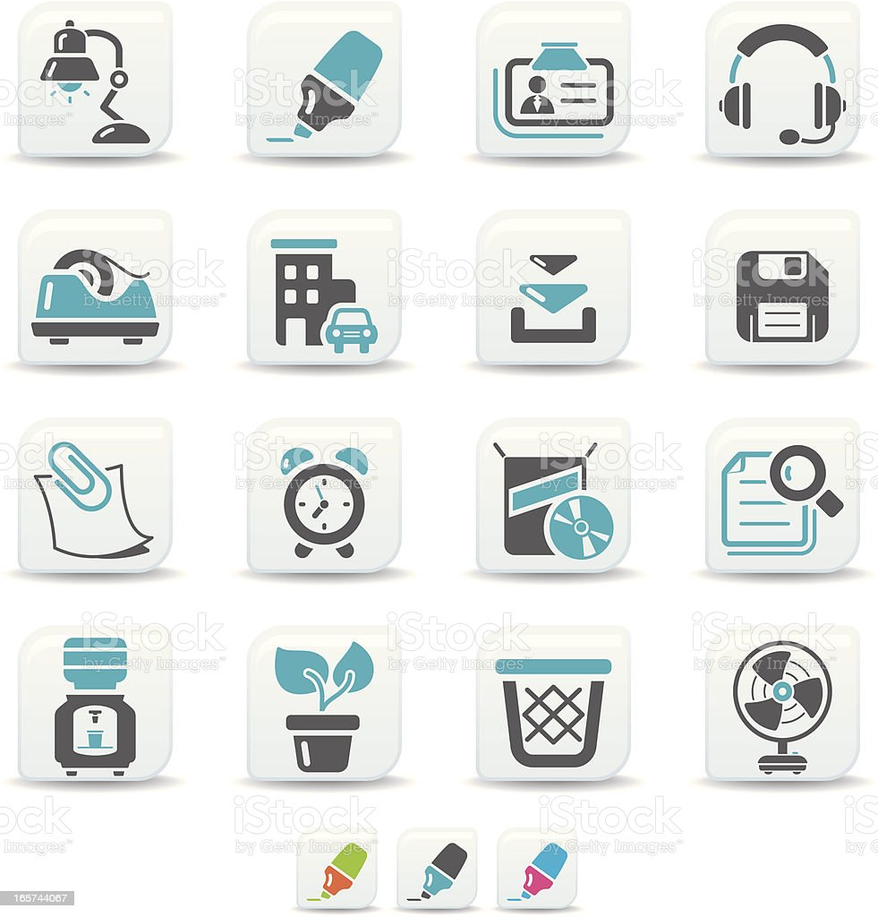 office icons | simicoso collection vector art illustration