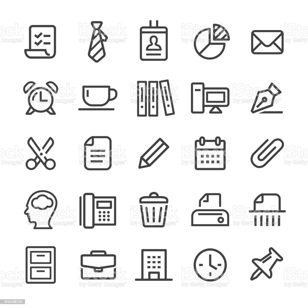 Office Icons - Smart Line Series vector art illustration