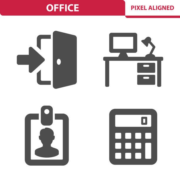 オフィスのアイコン - 玄関点のイラスト素材/クリップアート素材/マンガ素材/アイコン素材