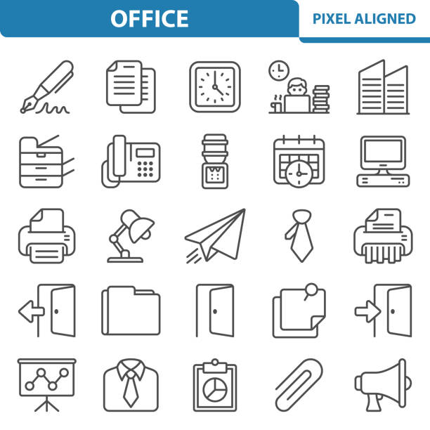 office icons - kopiować stock illustrations