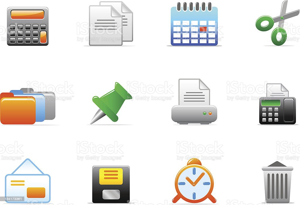 office icons royalty-free office icons stock vector art & more images of business