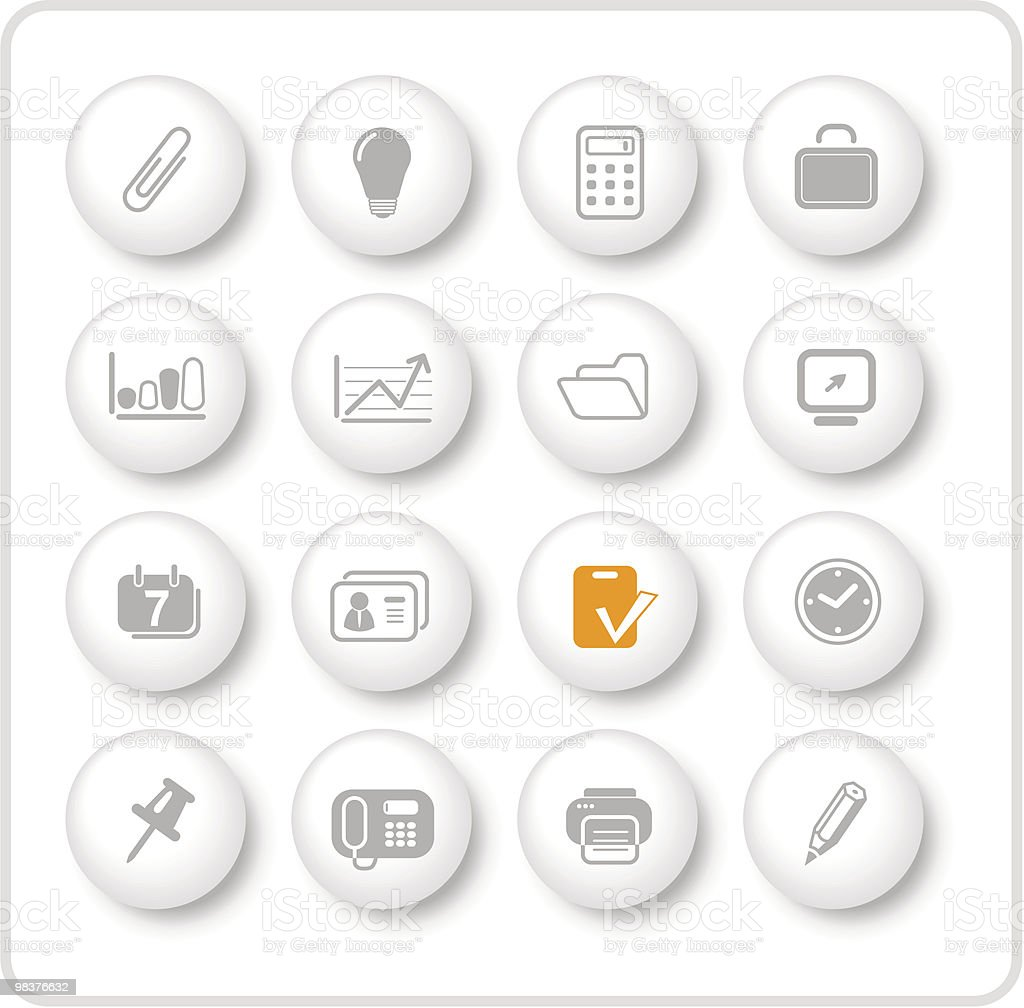 Office icons royalty-free office icons stock vector art & more images of briefcase