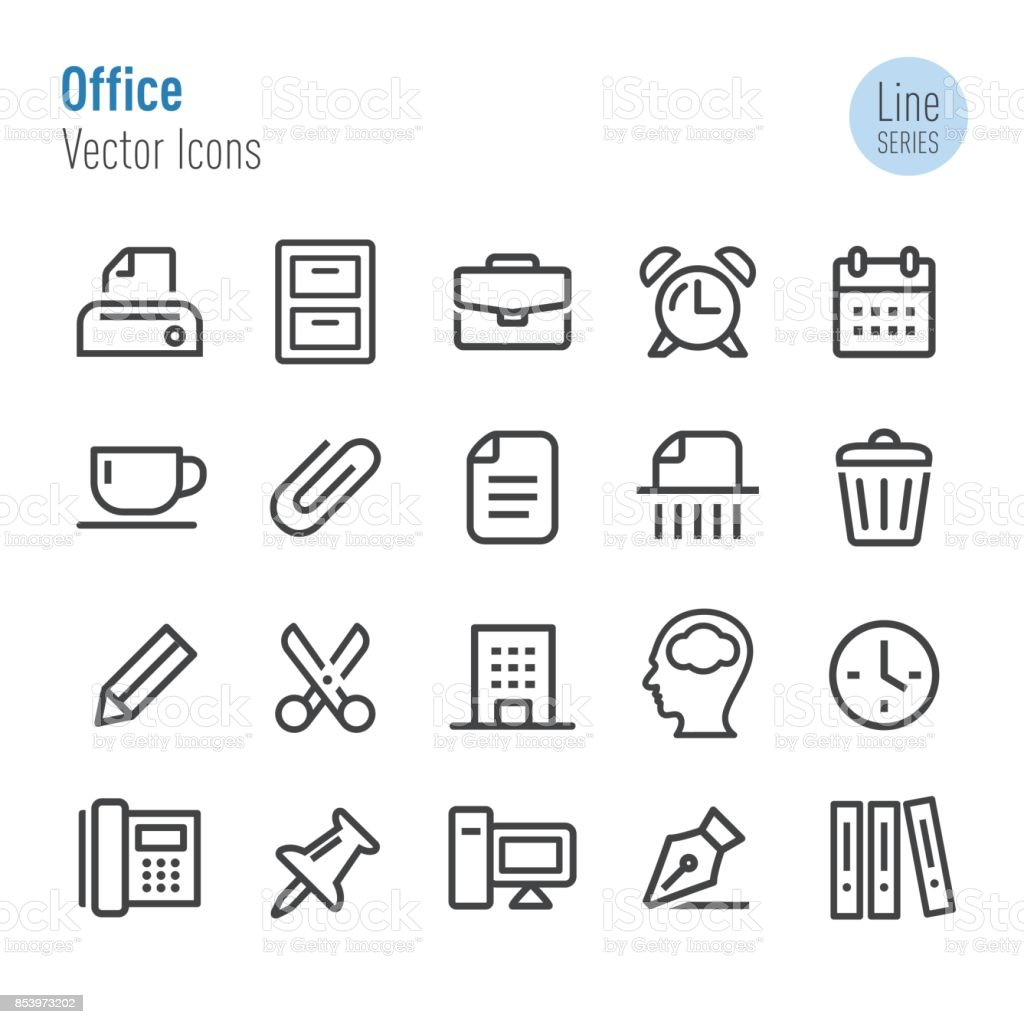 Office Icons - Vector Line Series vector art illustration