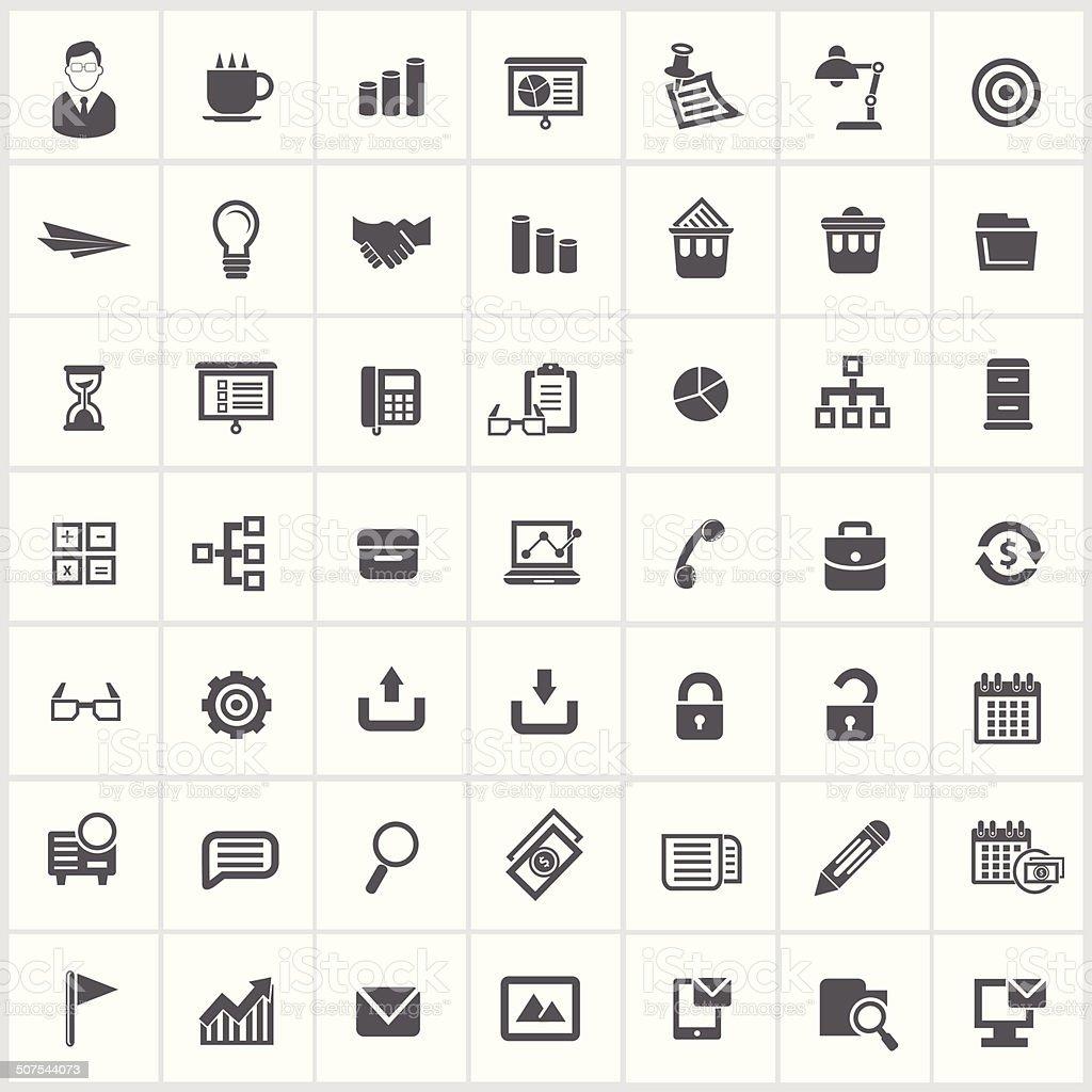 Office icons,vector vector art illustration