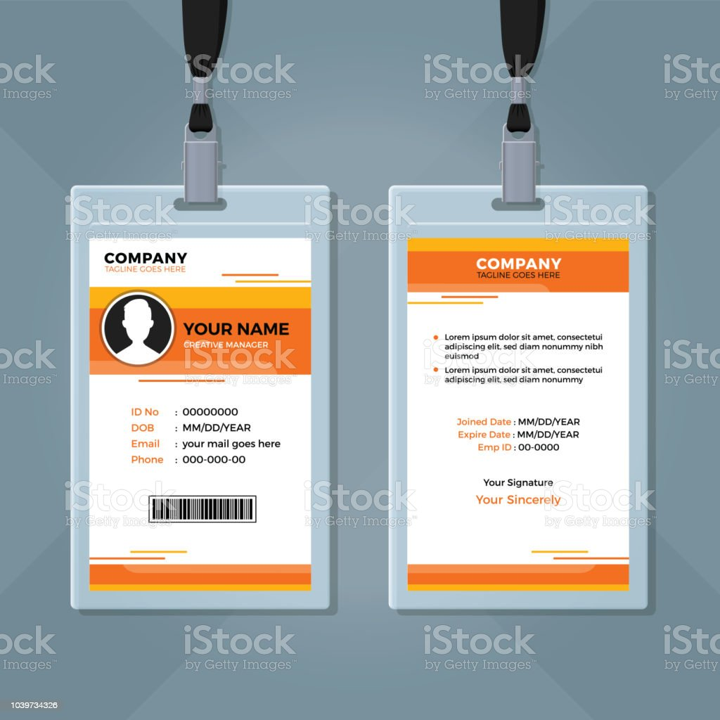 Office Id Card Design Template Stock Illustration - Download