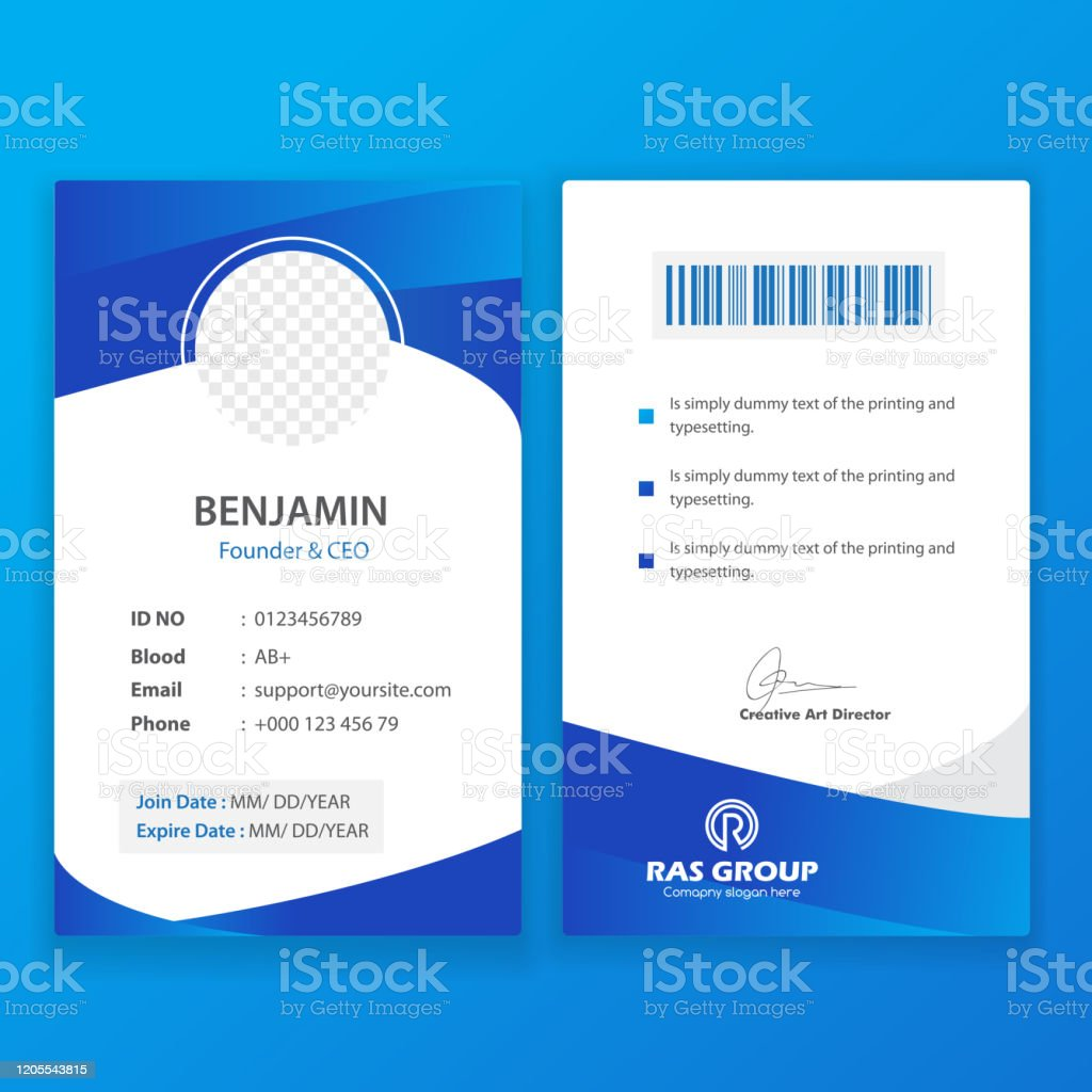 Office Id Card Template Stock Illustration - Download Image Now Regarding Sample Of Id Card Template