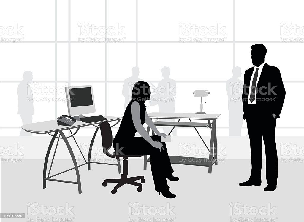 Büro Idee Schreibtisch – Vektorgrafik