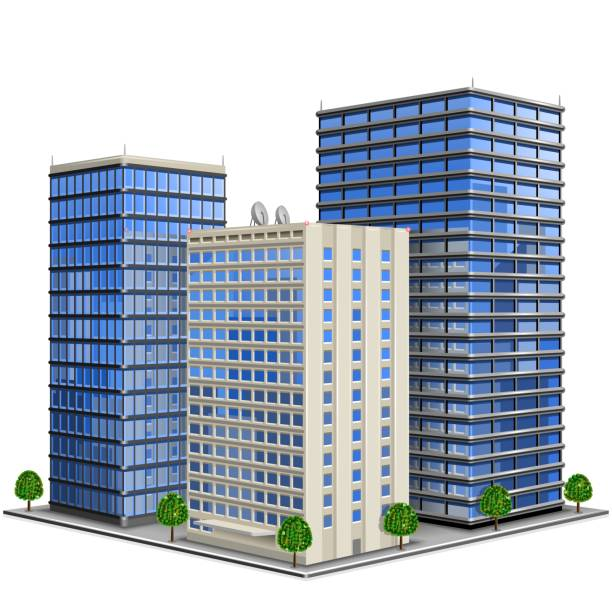 Best Glass Building Illustrations, Royalty-Free Vector Graphics & Clip Art - iStock