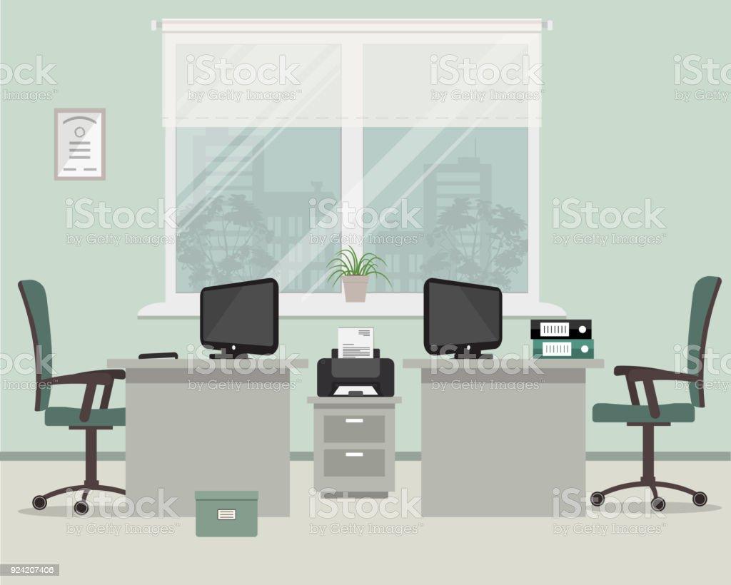 Bureau Plan De Travail bureau dans une couleur grise lieu de travail pour les deux
