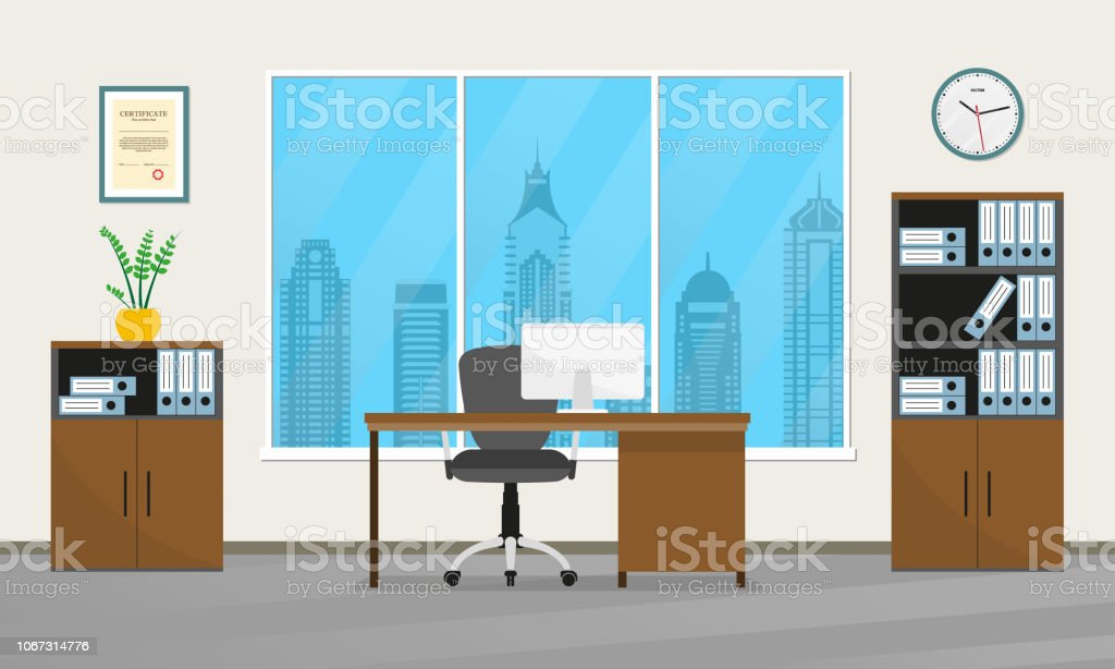 Office Interior Design Modern Business Workspace With Office ...