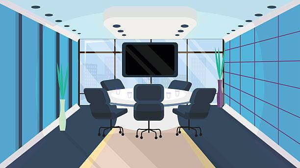 オフィスインテリアにフラットスタイルです。 - 会議室点のイラスト素材/クリップアート素材/マンガ素材/アイコン素材