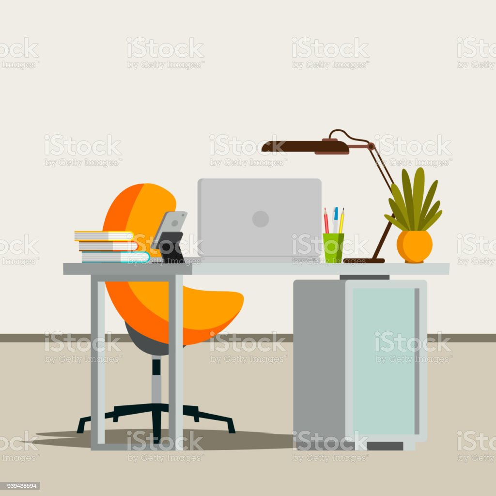 Office Interior Vector Business Office Workplace Modern Interior