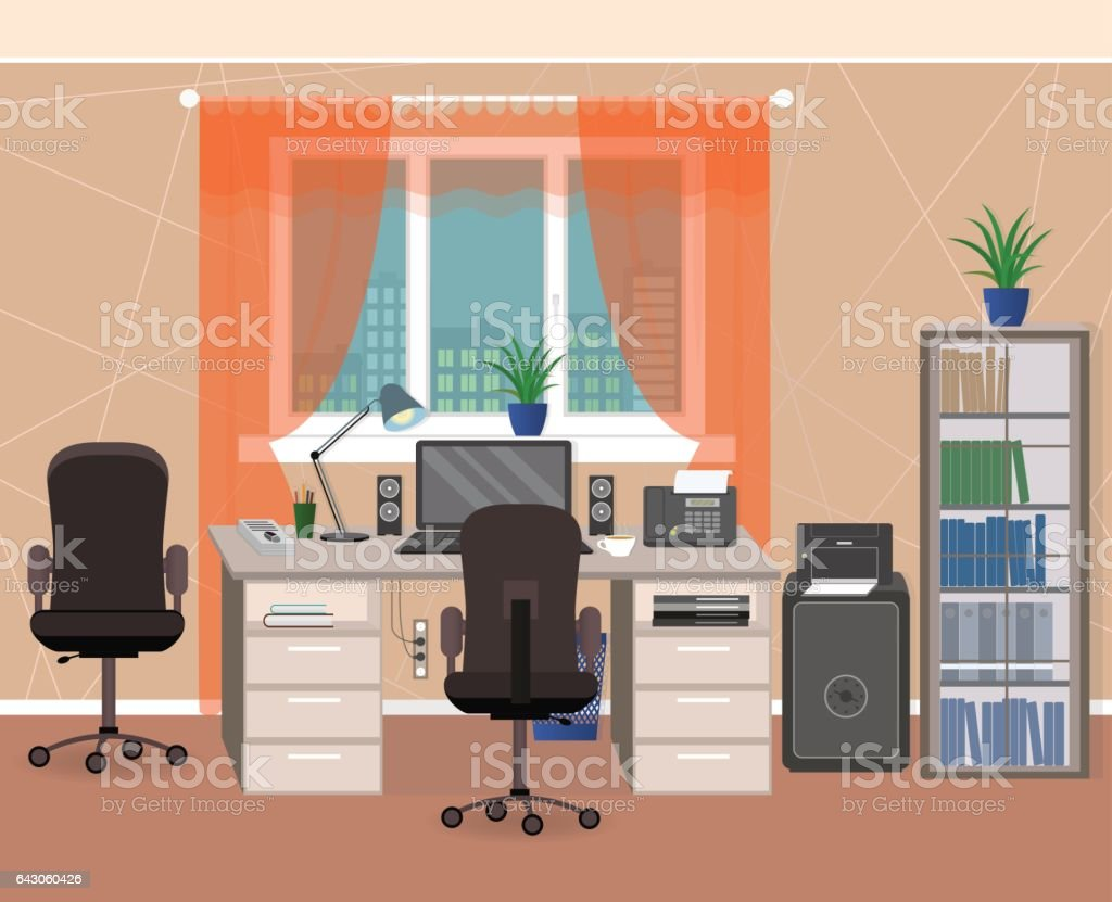 Espace de travail intérieur bureau meubles et articles de
