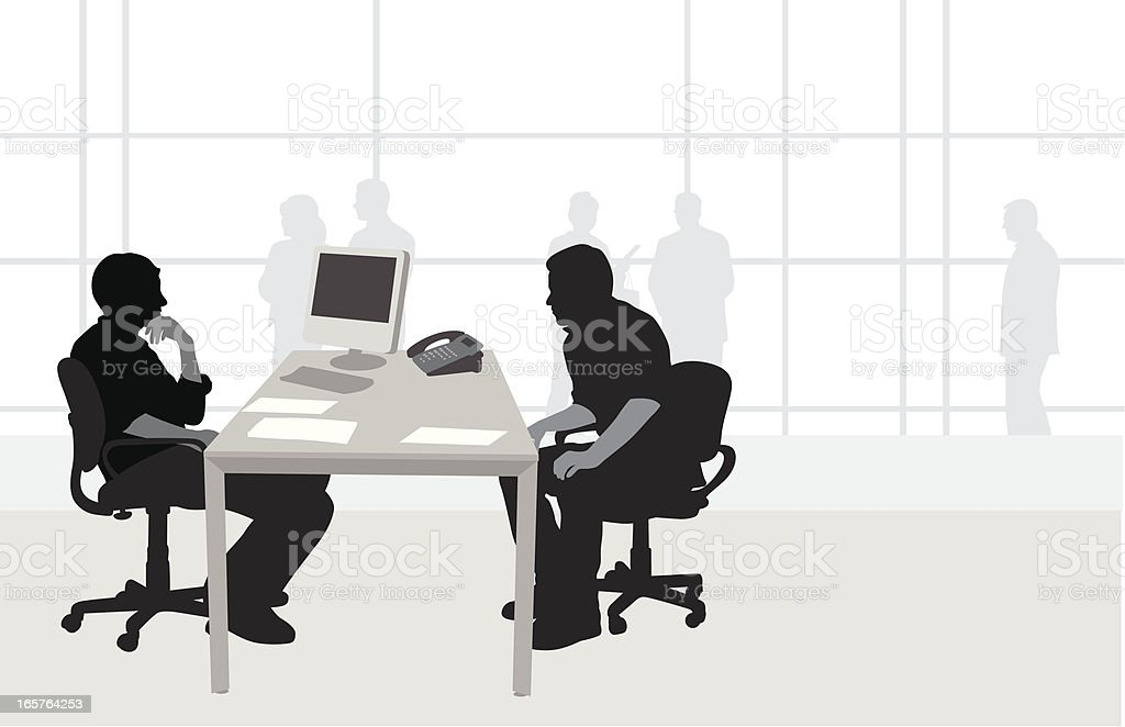 Office Interview Vector Silhouette royalty-free stock vector art
