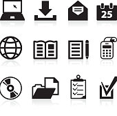 office items collection black and white royalty free vector arts