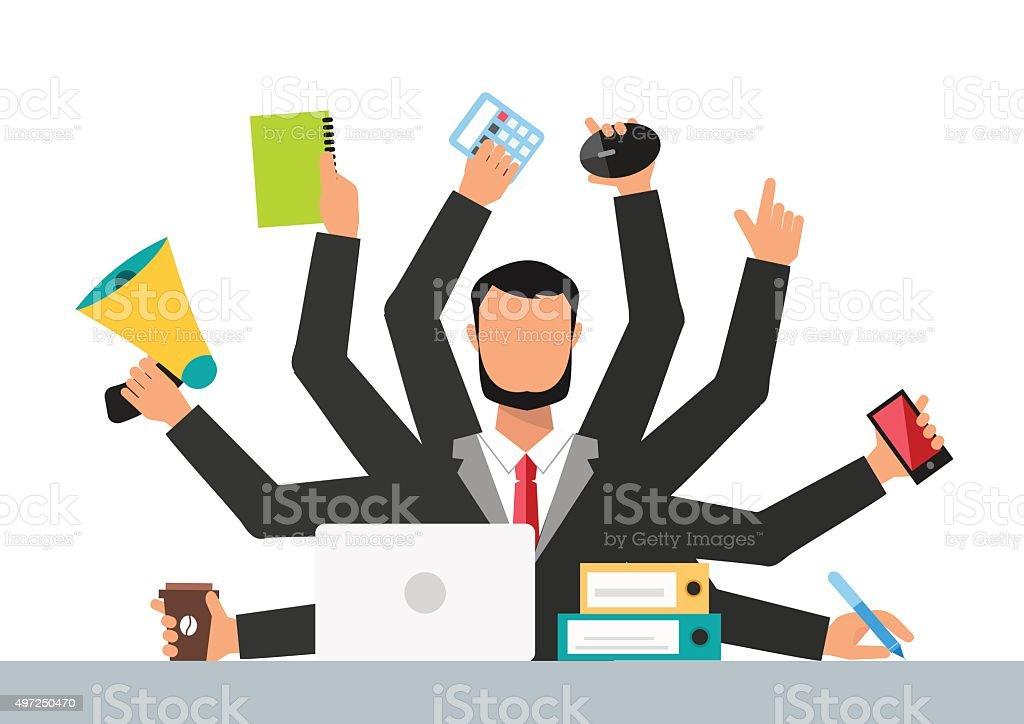 Office job stress work vector illustration vector art illustration