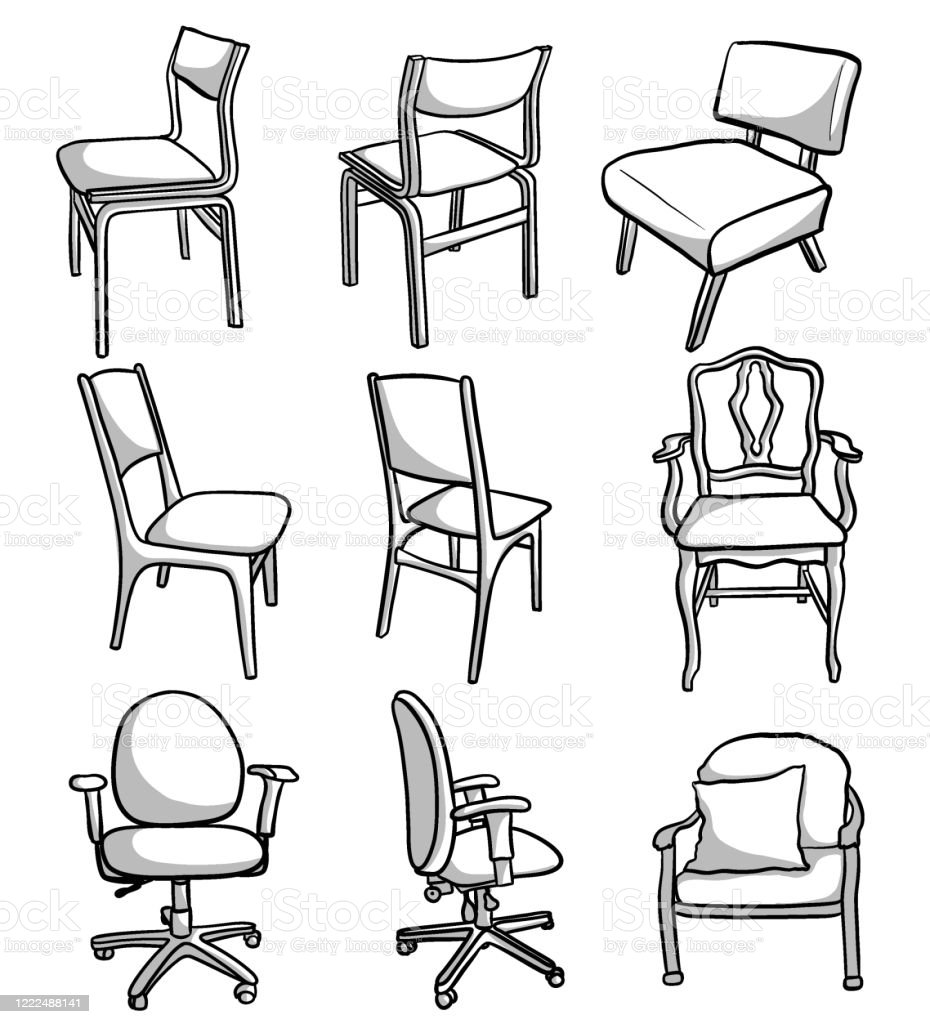 Office Kitchen And Accent Chairs Stock Illustration Download Image Now Istock
