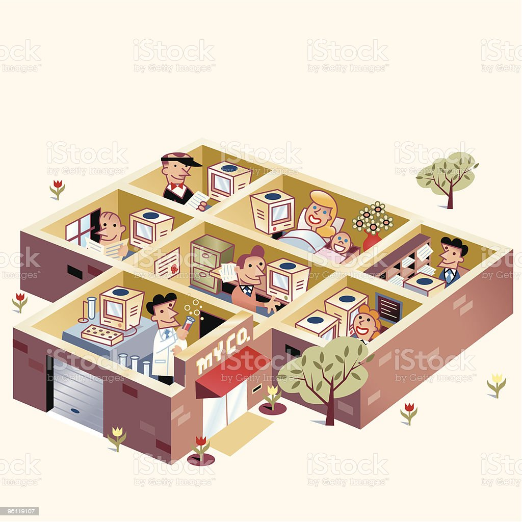 Office Life royalty-free stock vector art