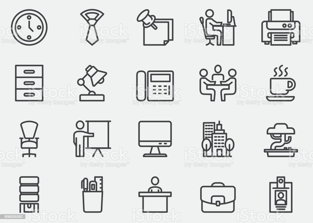 Office Line Icons | EPS10 - illustrazione arte vettoriale