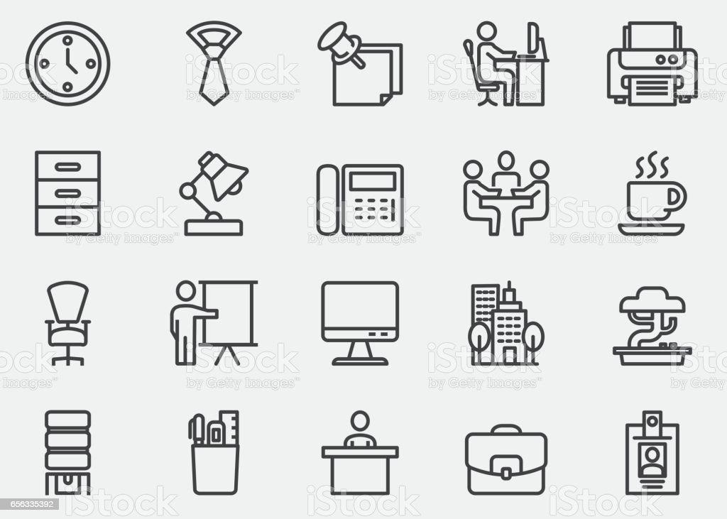 Office Line Icons | EPS10 vector art illustration