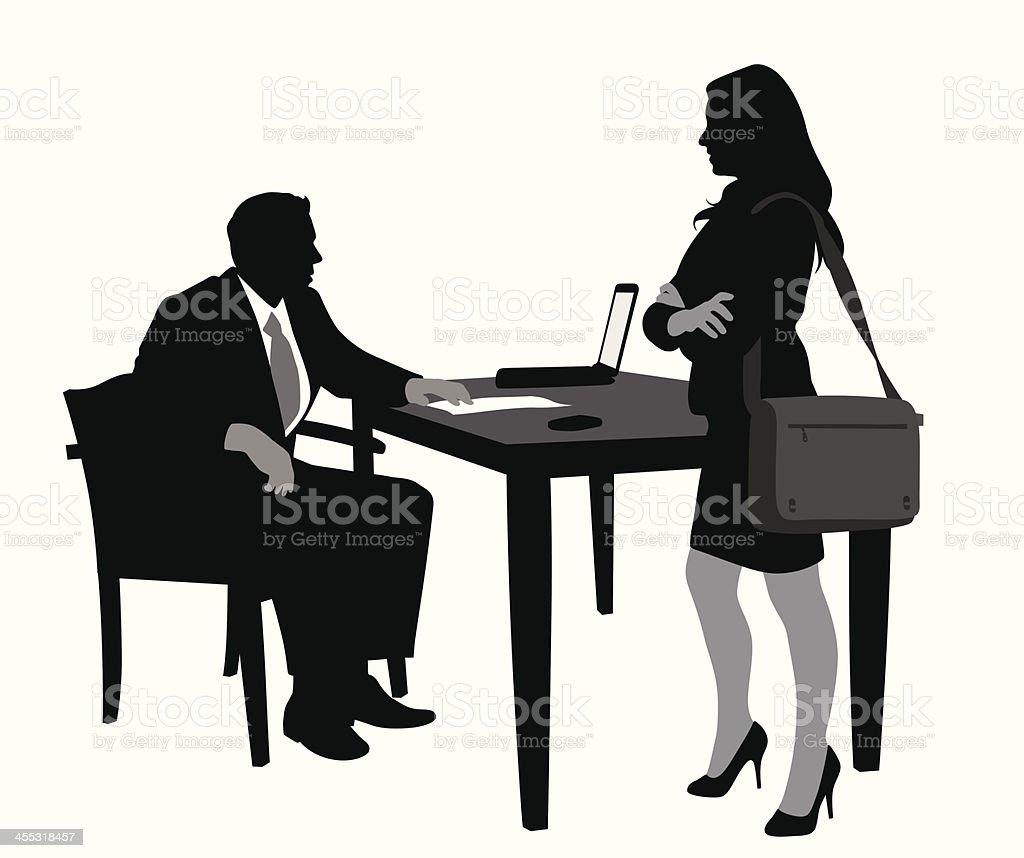 Office Meet Vector Silhouette A-Digit Adult stock vector