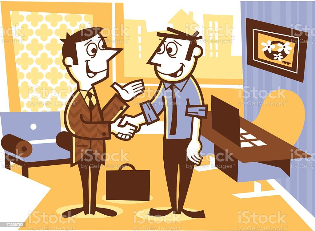 office meeting royalty-free stock vector art