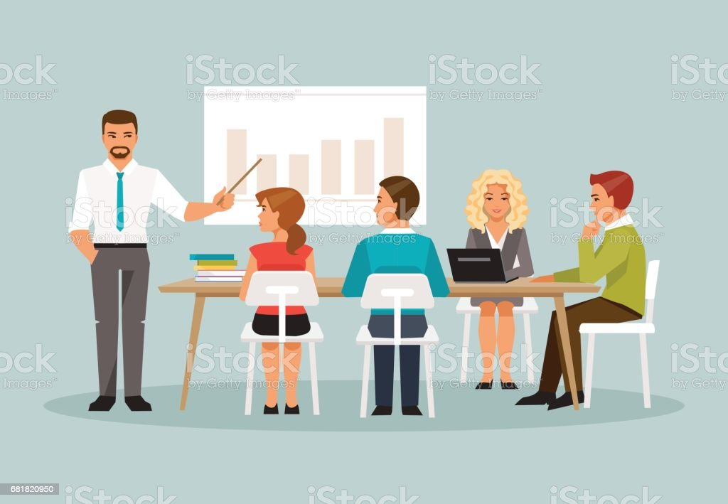 office meeting pictures. Office Meeting. Vector Illustration Art Meeting Pictures
