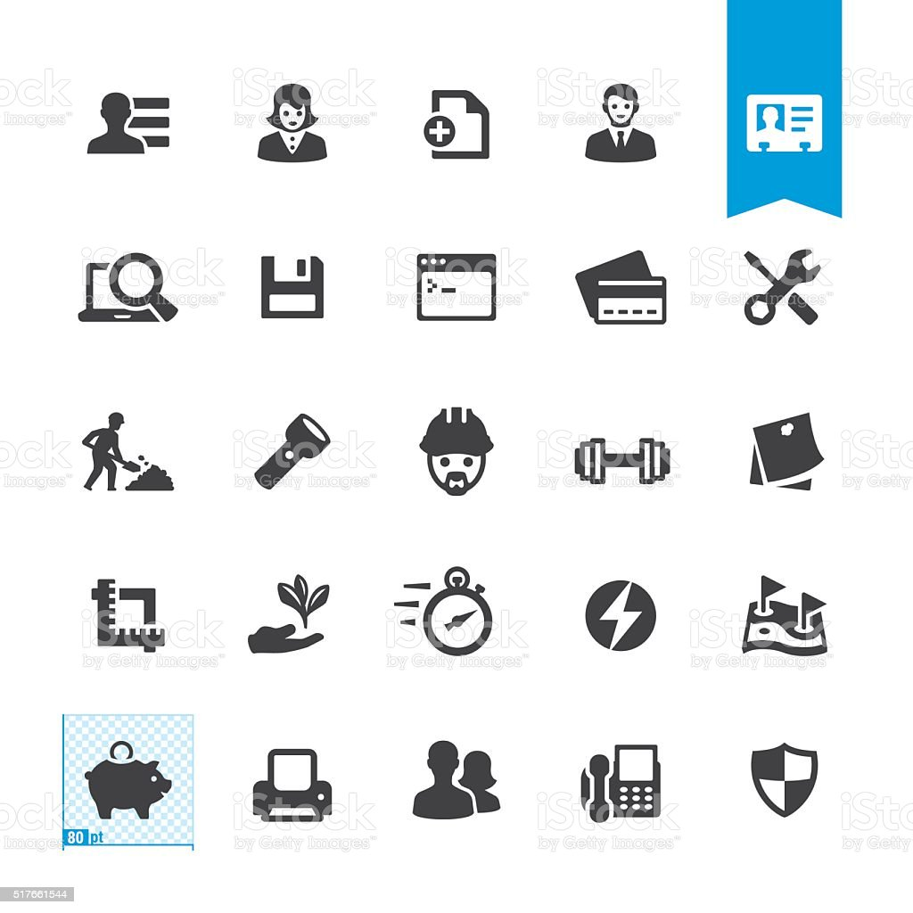 Office miscellaneous tools vector sign and icon vector art illustration