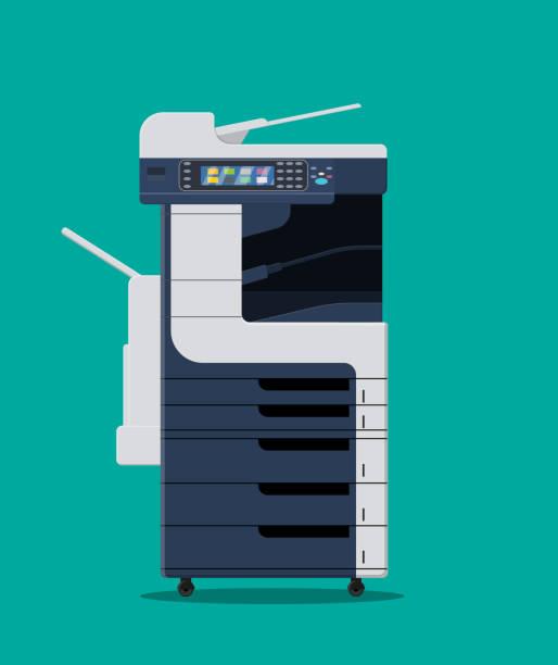 office multifunction machine. - kopiować stock illustrations