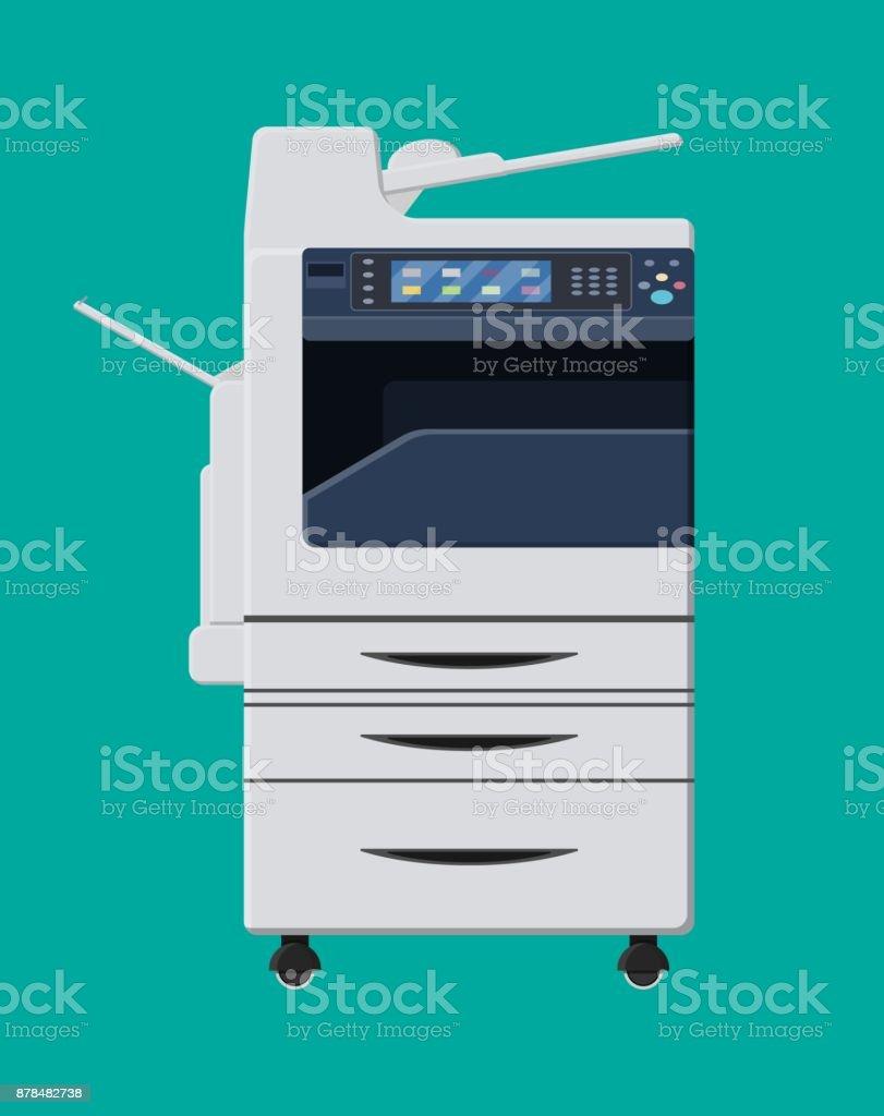 Office multifunction machine. vector art illustration