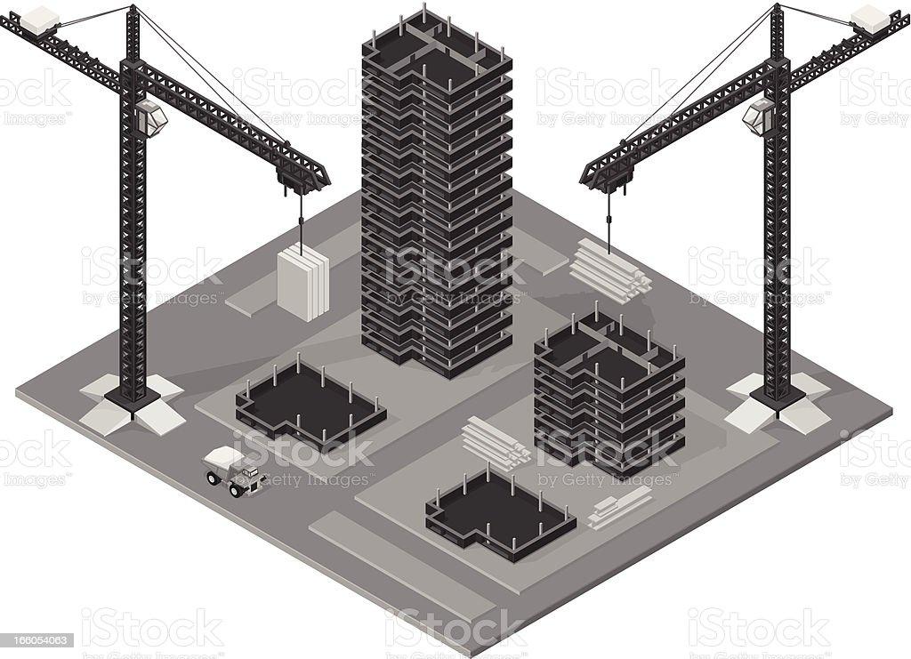 Office Park Under Construction royalty-free stock vector art