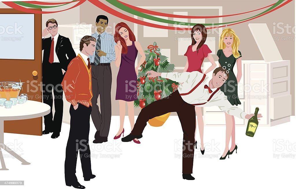 Office Party C vector art illustration