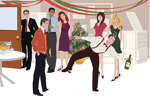 office party c - office party stock illustrations, clip art, cartoons, & icons
