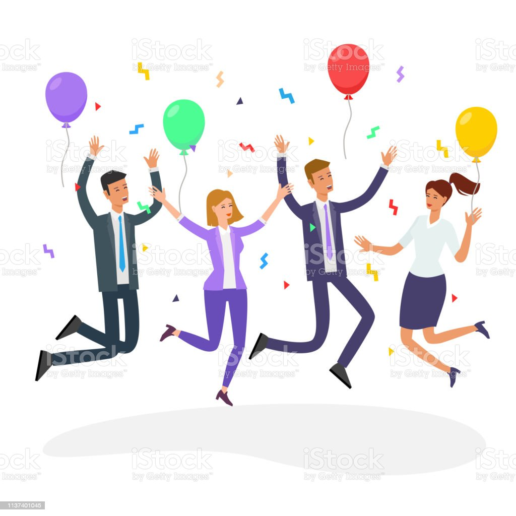 Office party people vector vector art illustration