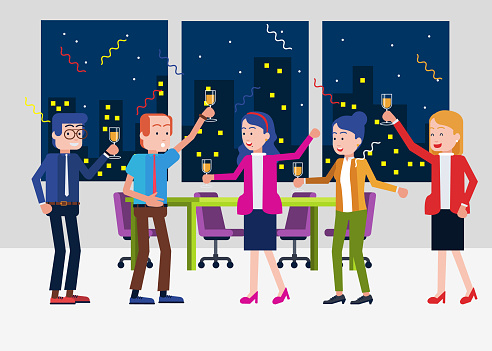 Office party stock illustrations