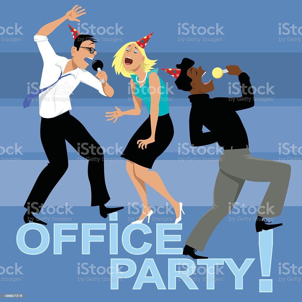 Fiesta en la oficina - ilustración de arte vectorial