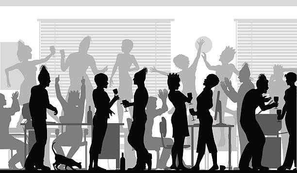 office party - office party stock illustrations, clip art, cartoons, & icons