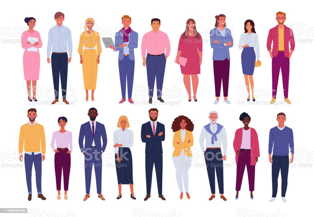 Office people collection. - Royalty-free Adulto arte vetorial