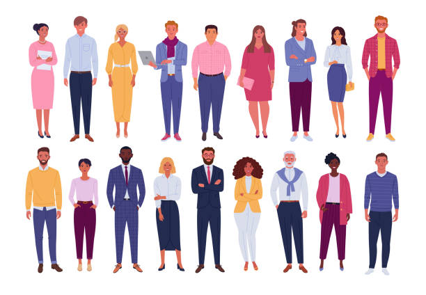 office people collection. - diversity stock illustrations