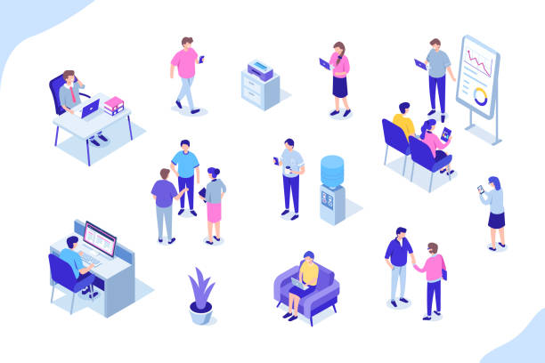 office people - office stock illustrations