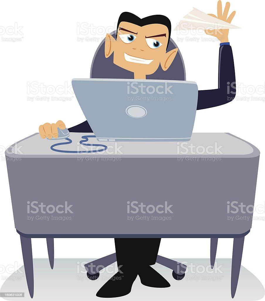 Office Pest Cartoon vector art illustration