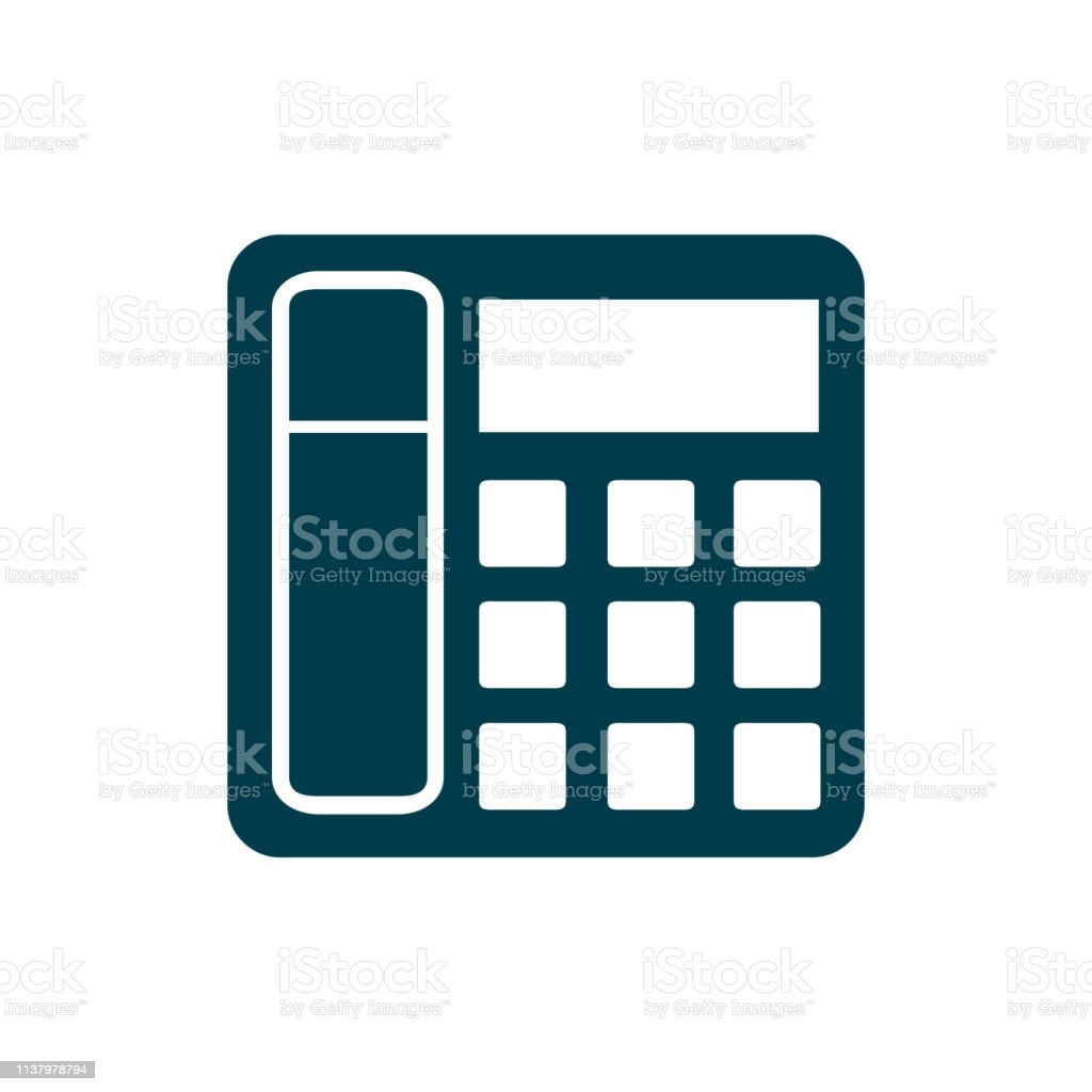 Office Phone Icon Stock Vector Stock Illustration - Download