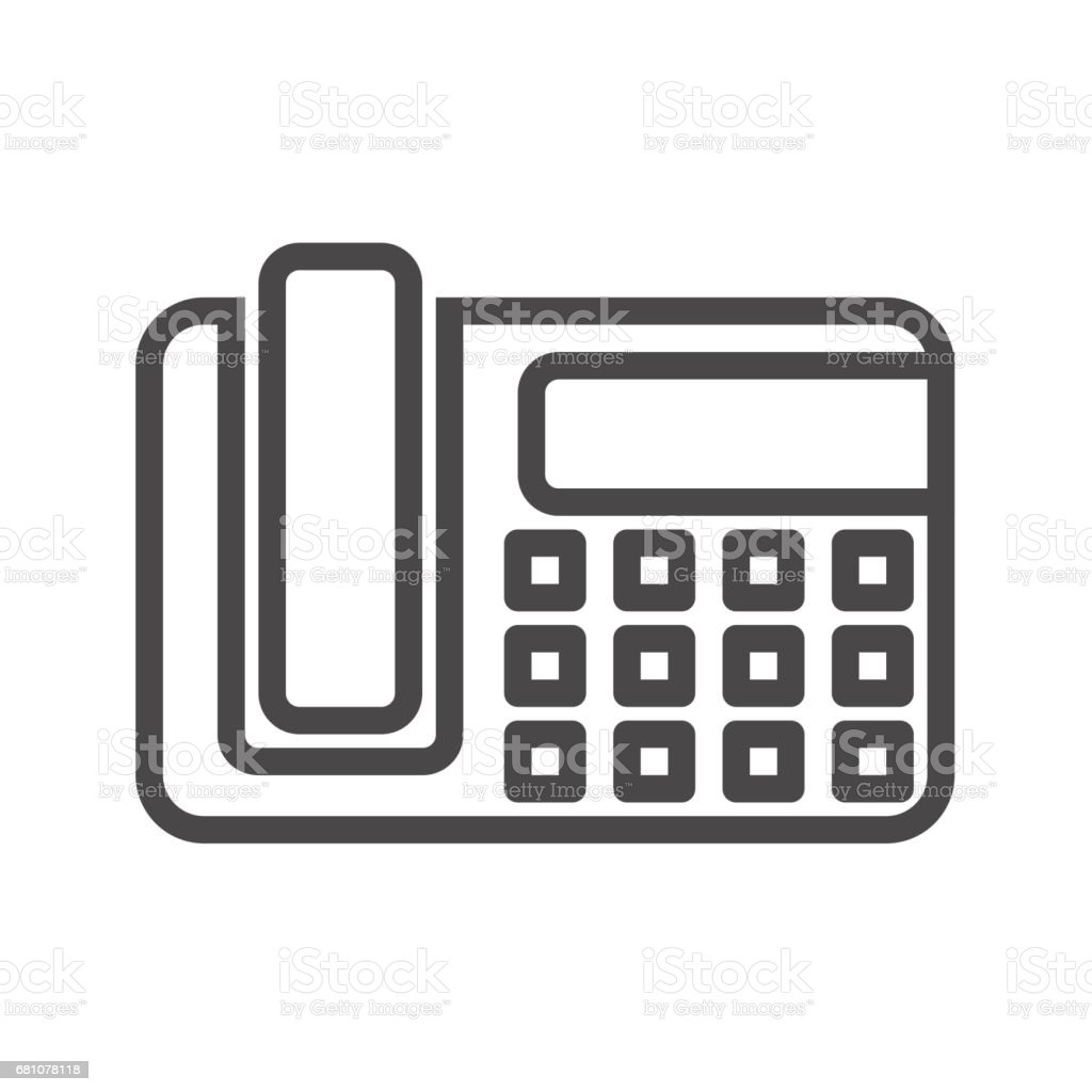 Office Phone Thin Line Vector Icon royalty-free office phone thin line vector icon stock vector art & more images of equipment